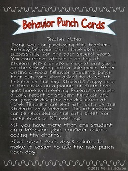 Easy Behavior System with Instant Parent Report