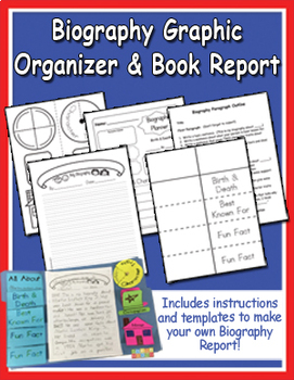 Easy Biography Graphic Organizer and Lapbook
