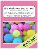 Fun Easy Birthday Activity - Gifts We See in You