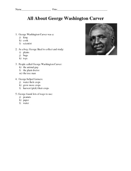 Easy Black History Month biography assessments