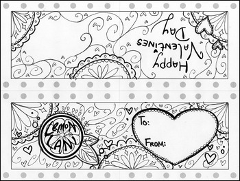 Easy Black and White Valentine's Day Cards
