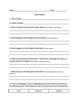 Easy Book Report