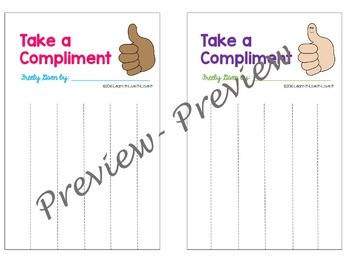 """Easy Bulletin Board- """"Take a Compliment"""""""