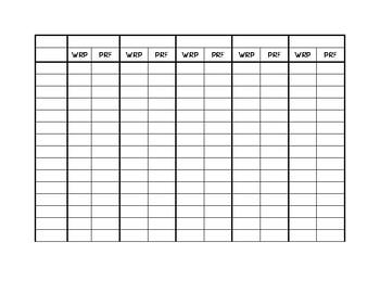 Easy CBM WRF and PRF data tracking