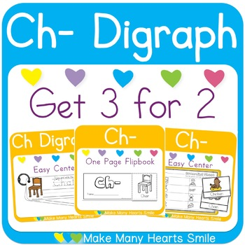 Easy Center: Ch Digraph Write and Wipe