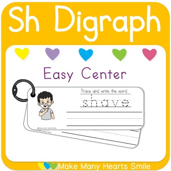 Easy Center: Sh Digraph Write and Wipe