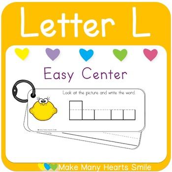 Easy Centers: Letter L    MMHS25