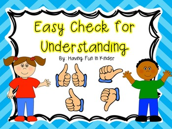 Easy Check for Understanding - Thumbs Up Thumbs Down