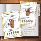 Easy Children's Handwriting Checklist