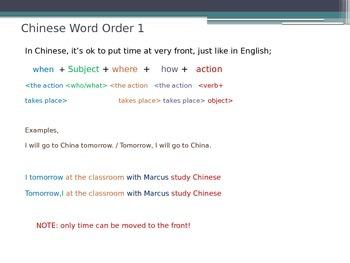 Easy Chinese Grammar (1/8  Elementary)