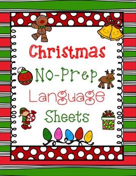 Easy Christmas No-Prep Language Sheets