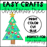 Easy Christmas Tree Craft - Print, Color, Cut, and Paste