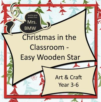 Easy Christmas Wooden Star Craft Activity