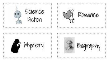 Easy Classroom Library Labels!