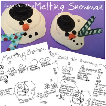 Easy Clay Melting Snowman Ornament