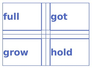 Easy Copy Sight Words Cards