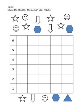 Easy Count and Graph Bar Graph (PK, K, 1st)