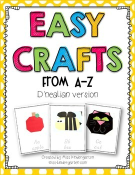 Easy Crafts from A-Z {D'nealian version}