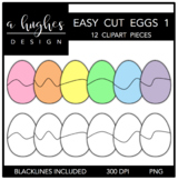 Easy Cut Eggs 1 Clipart {A Hughes Design}