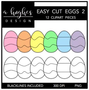 Easy Cut Eggs 2 Clipart {A Hughes Design}