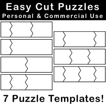 Easy Cut Puzzle Templates for Personal & Commercial Use!
