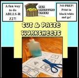Easy Cut and Paste Match, Autism, ABA Simple Shape, ABLLS-R Z27