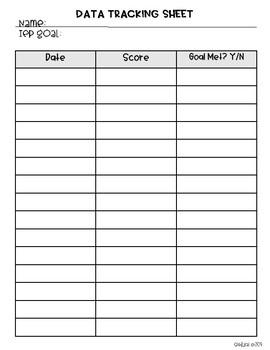 Easy Data Tracking Sheets FREEBIE