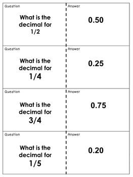 Easy Decimals and Percent Quiz Quiz Trade