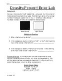 Easy Density Lab with Percent Error