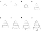 Easy Directed Draw Christmas Tree