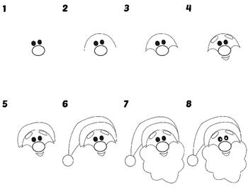 Easy Directed Draw Santa