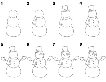 Easy Directed Draw Snowman