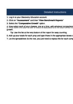 Easy Discovery Education Data Collection Spreadsheet (3 Tests)