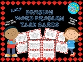 Easy Division Word Problem Task Cards--Free Sample