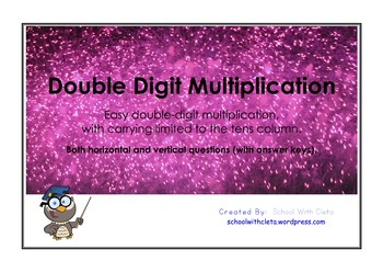 Easy Double Digit Multiplication / Times Tables - Vertical & Horizontal (Trick)