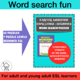 Easy ESL Wordfind Challenge: Beginner: Word Search Puzzles