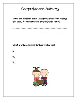 Easy Early Comprehension Activity