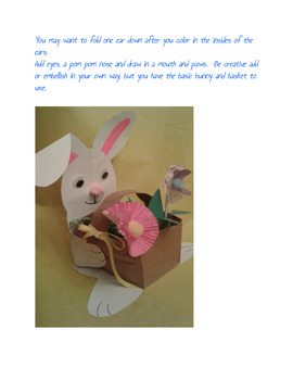 Easy Easter Bunny and Basket Craftivity