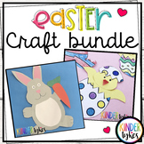 Easy Easter Crafts:  Chick & Bunny