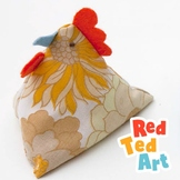 Easy Easter Sewing Project - Pyramid Chickens - Juggling,