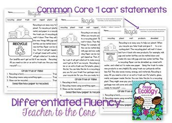 Easy Ecology: Common Core Informational Text, Test, Art, and More for Earth Day