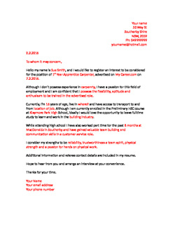 Easy Edit Employment  Cover Letter