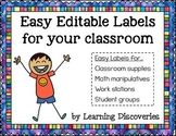 Easy Editable Labels by Learning Discoveries