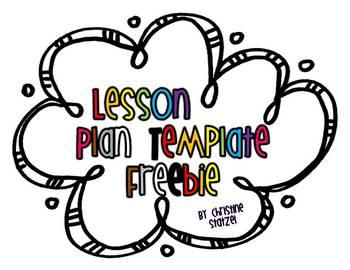 Easy & Editable Lesson Plan Template