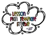 Easy & Editable Lesson Plan Template