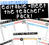 "Easy Editable ""Meet the Teacher"" Template!"