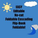 Easy Editable No-Cut Cascading Flip-Book Foldable Template