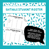 Easy Editable Student Roster [Half Sheet]
