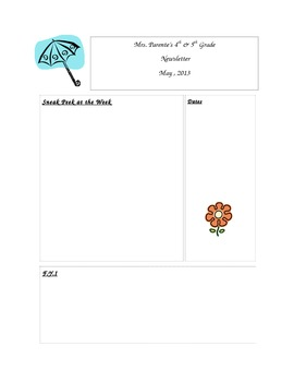 Easy Editable Weekly / Monthly May Newsletter Template