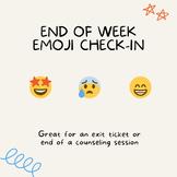 Easy Emoji End of Week Check-In for Elementary School